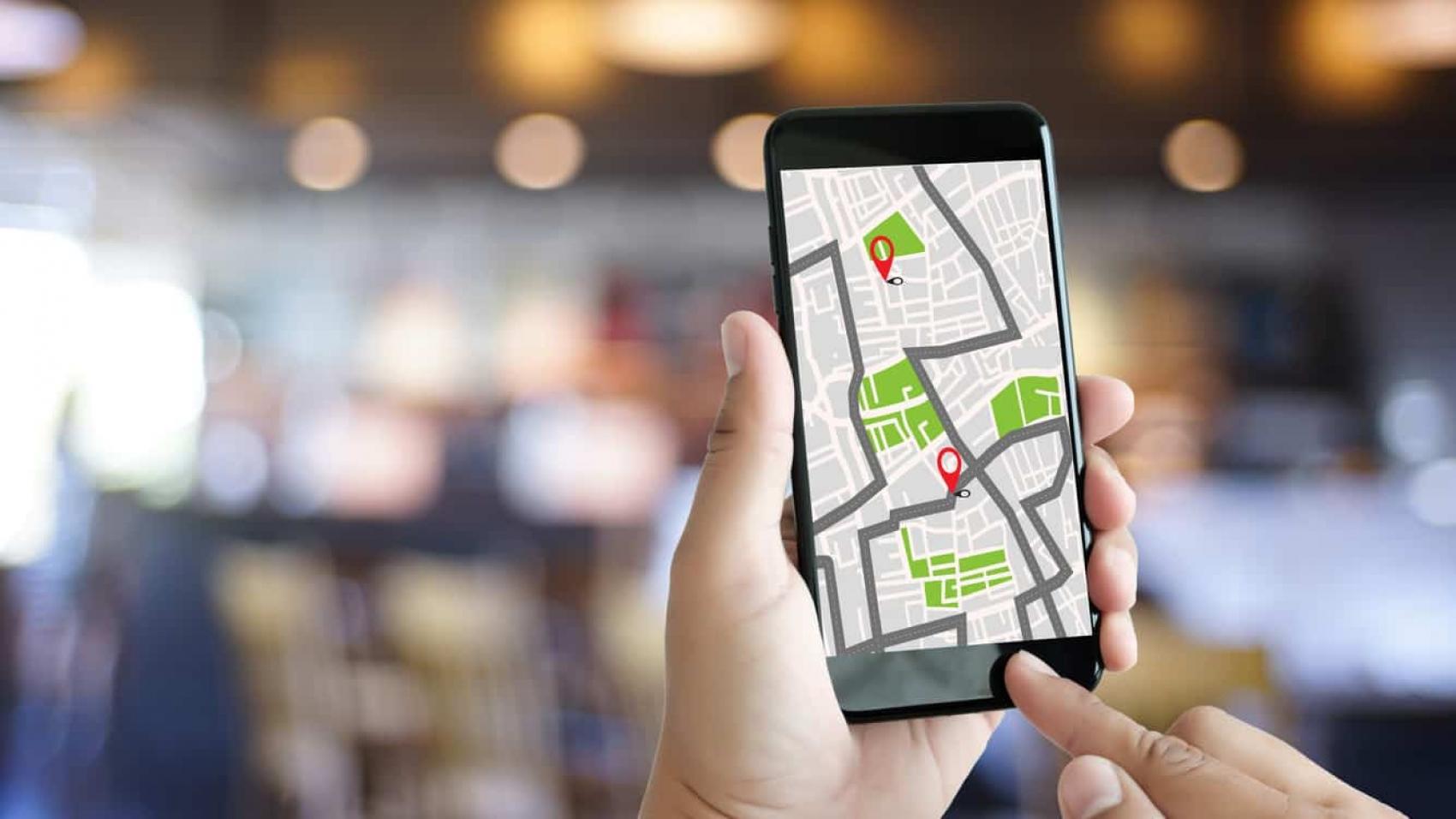 Visualização de rotas no celular