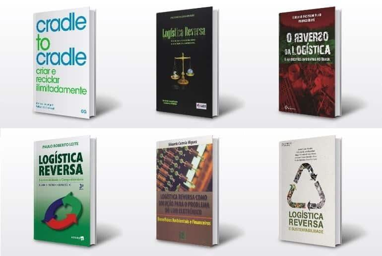 Capas de livros sobre logística reversa