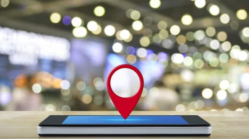 Pin de localização no celular