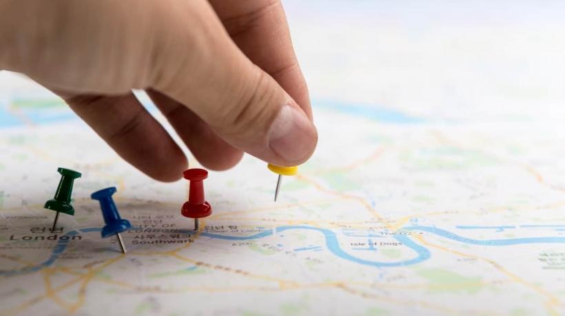 Pins de marcação no mapa