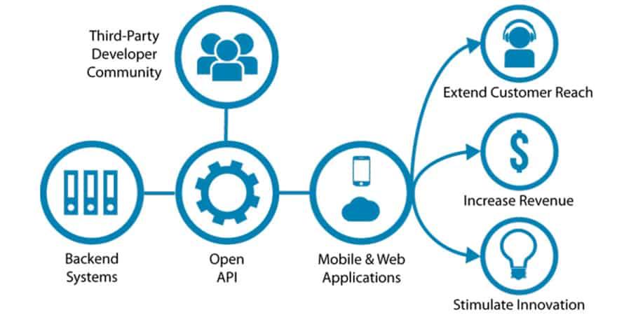 Infográfico - API Aberta ou Pública - O que significa API