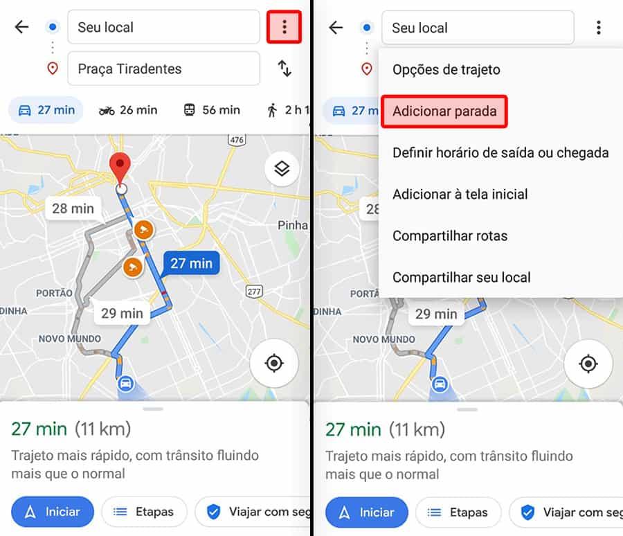 como fazer uma rota de entrega pelo Google Maps