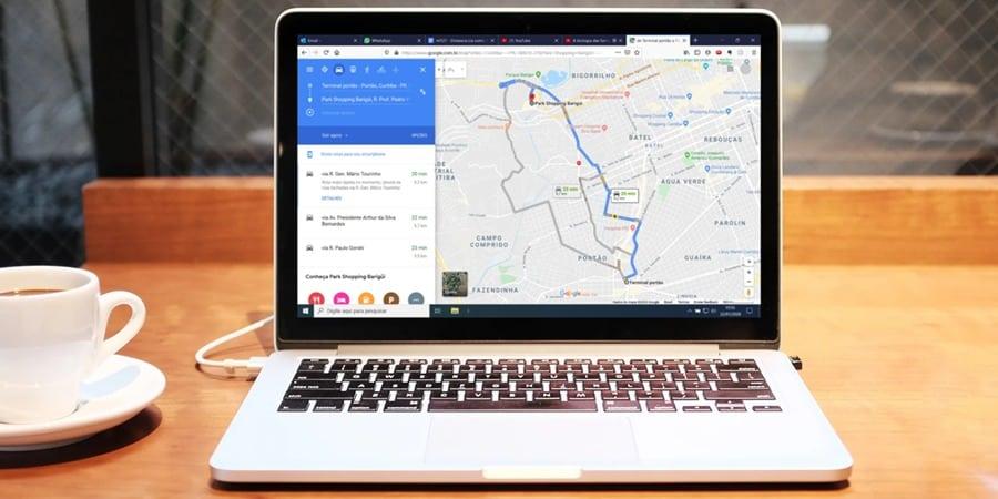API de distância do Google Maps