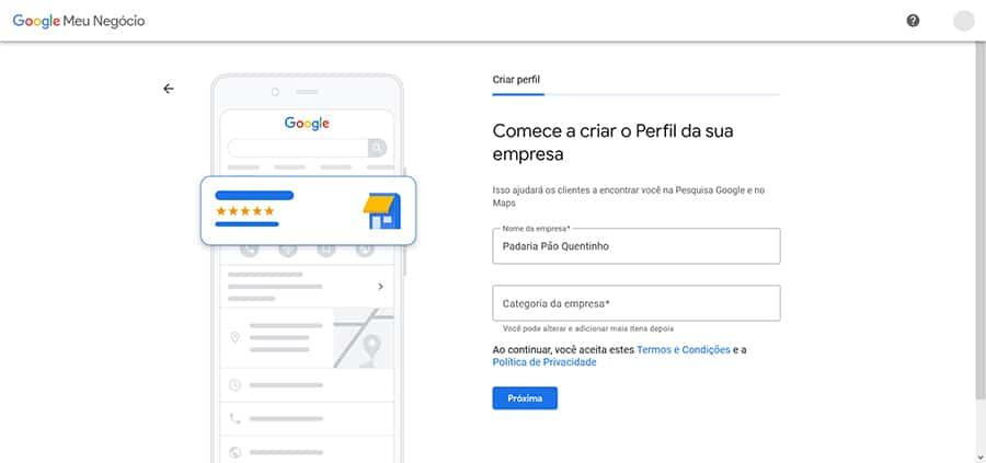 adicionar empresa Google Meu Negócio
