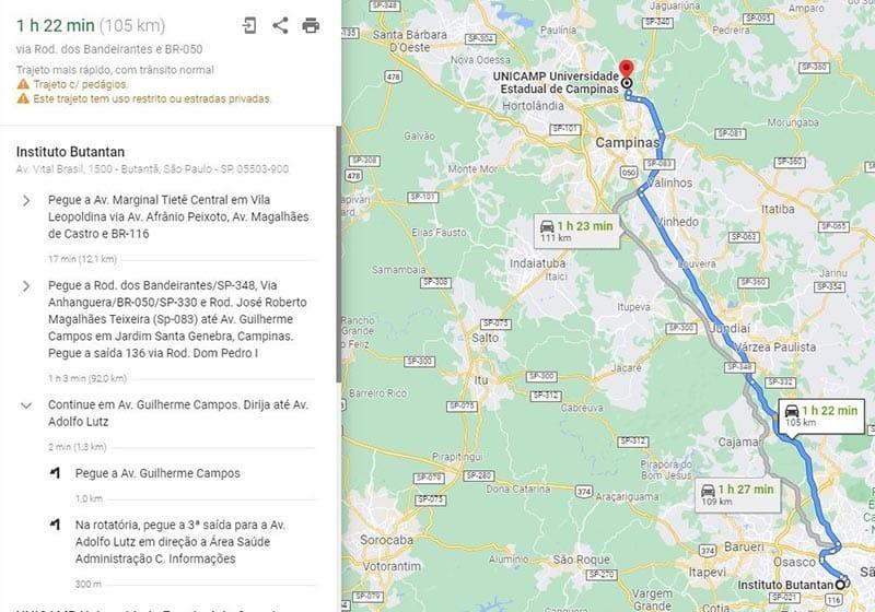como fazer rota no google maps